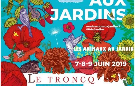 Affiche Rendez-vous aux Jardins avec Le Troncq + église - copie