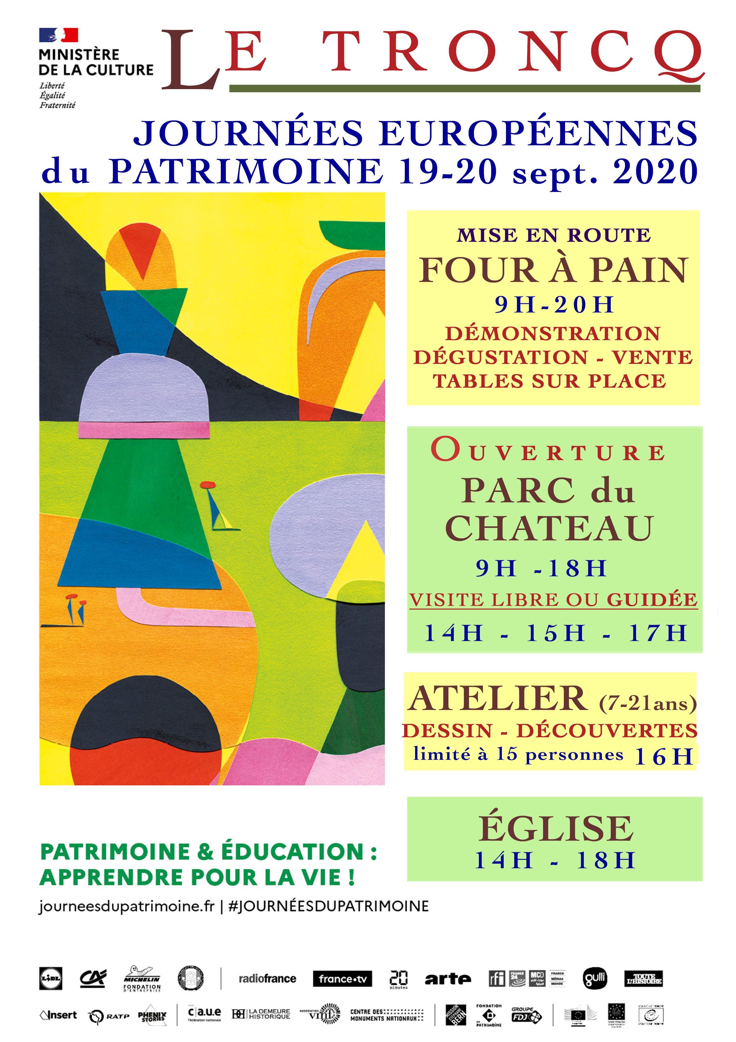 JEP 2020 - Affiche A4 personnalisée Le Troncq