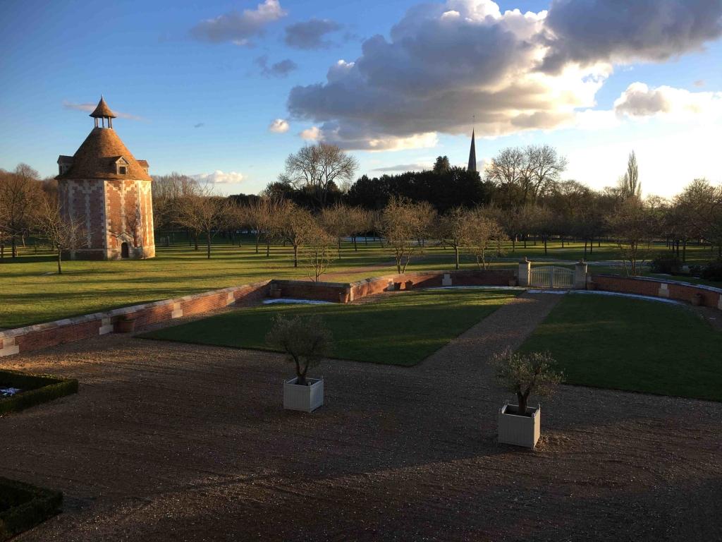 L'hiver Cour d'honneur au soleil couchant IMG_9039