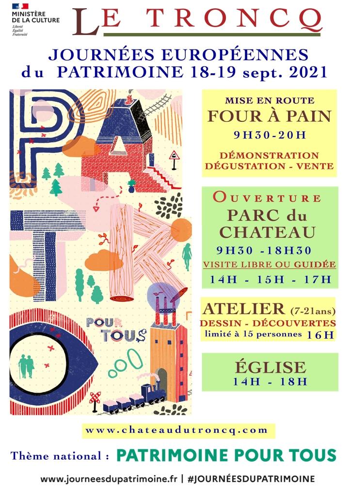 Affiche Le Troncq personnalisée -JEP 2021- A4